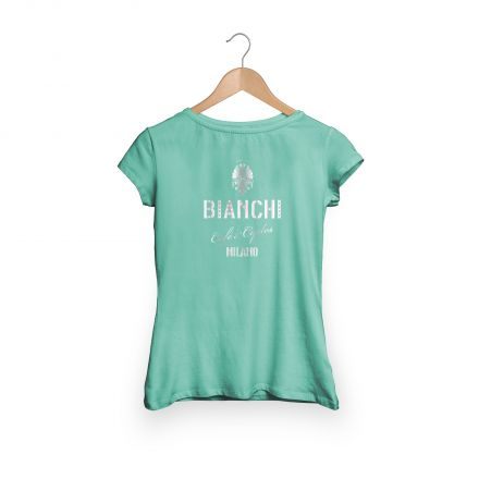 Bianchi Cafe & Cycles - T-Shirt Damen celeste