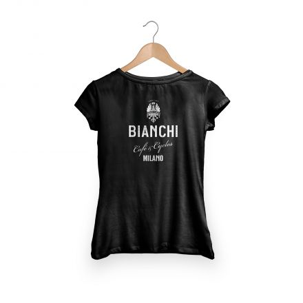 Bianchi Cafe & Cycles - T-Shirt Dama black