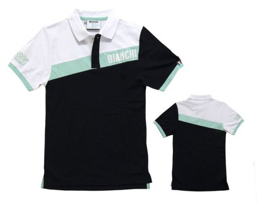 Polo Bianchi Celeste Stripe nera-grigia