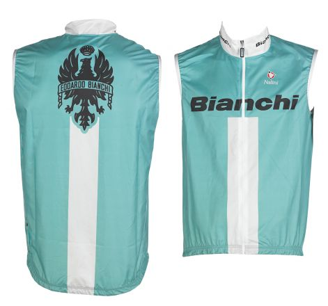 Bianchi Reparto Corse - Sleeveless Wind Jacket - celeste