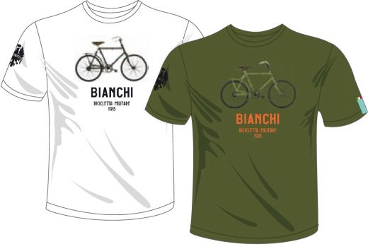 Bianchi T-Shirt - Military Bike