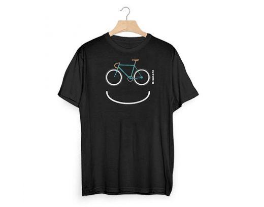 T-shirt Bianchi Smile blu