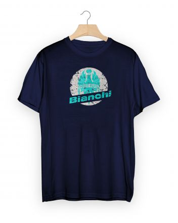 T-shirt Bianchi STAMP Blu navy
