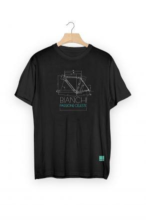 T-shirt Bianchi TECH SKETCH GEOMETRY