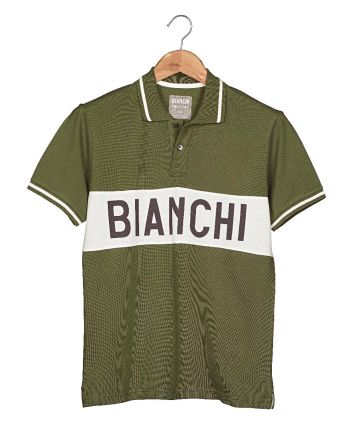 Bianchi Vintage Collection Polo - Gent - Military Green