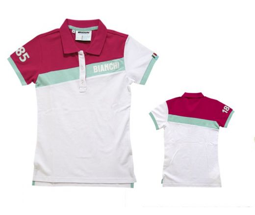 Bianchi Polo Dama CK Stripe - white/magenta
