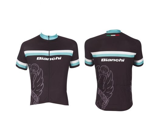 Bianchi Sport Line Man - Short Sleeve Jersey black
