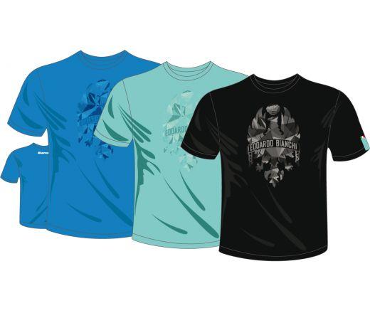 T-shirt Bianchi Diamonds celeste