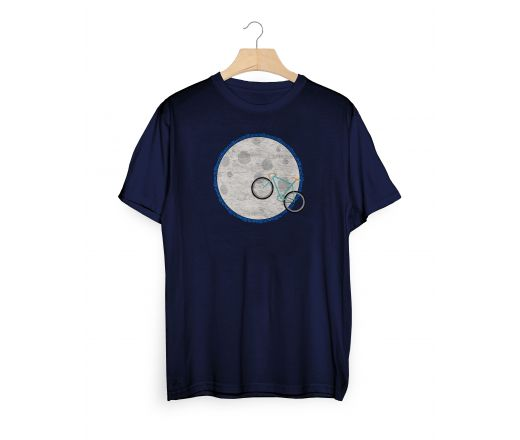 T-shirt Bianchi MOON Blu navy