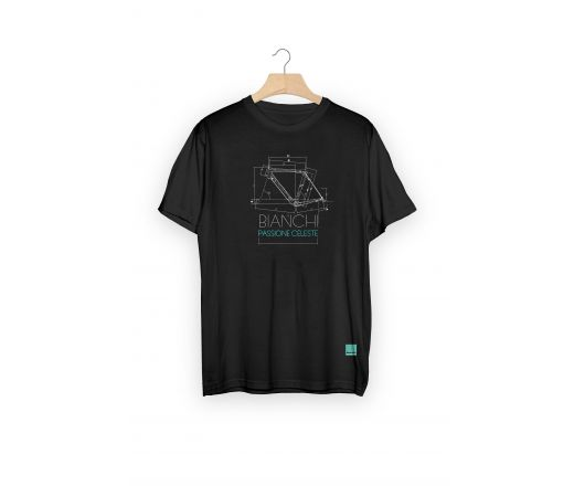 T-shirt Bianchi TECH SKETCH GEOMETRY