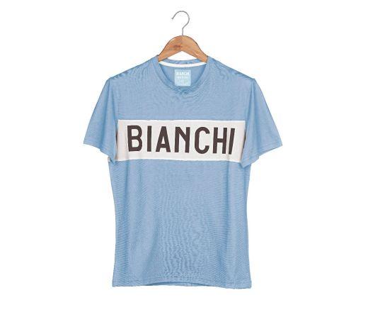 Bianchi L'EROICA T-shirt - Gent - Clear Blue